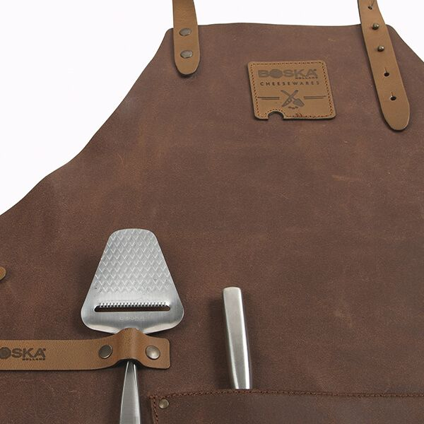 Boska Mr. Smith Leather Culinary Apron Brown