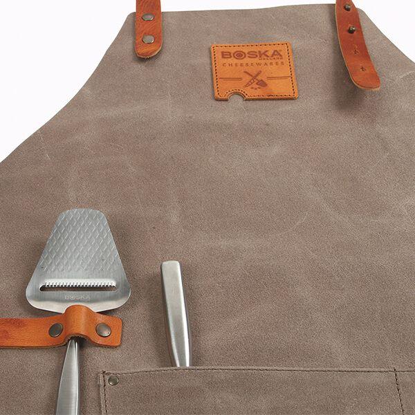 Boska Mr. Smith Leather Culinary Apron Grey