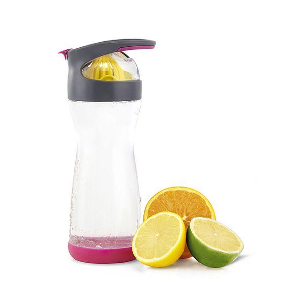 Full Circle Wherever Water Lemon 570ml Glass Water Bottle
