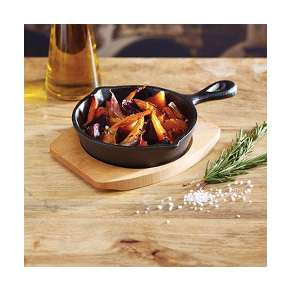 Artesa 15cm Cast Iron Frying Pan With Board