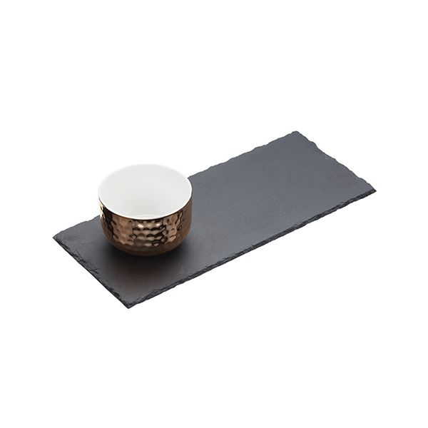 Artesa Two Piece Slate & Copper Serving Set
