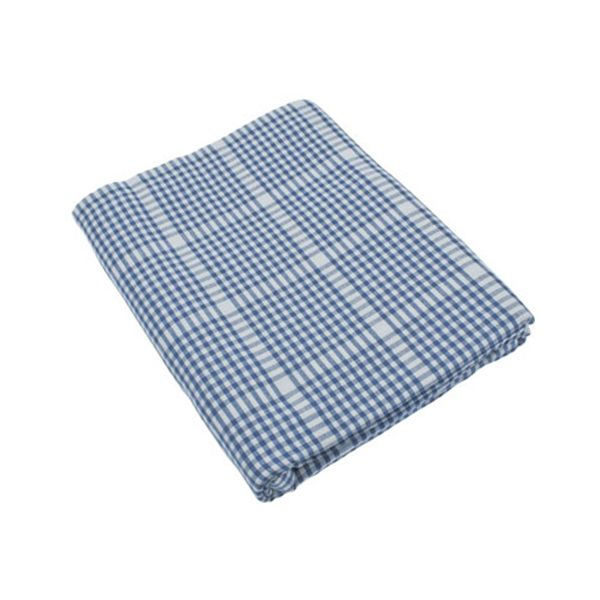 Walton & Co Auberge Gingham Tablecloth 130 x 280cm Nordic Blue