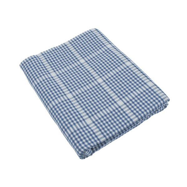 Walton & Co Auberge Gingham Tablecloth 172cm Round Nordic Blue