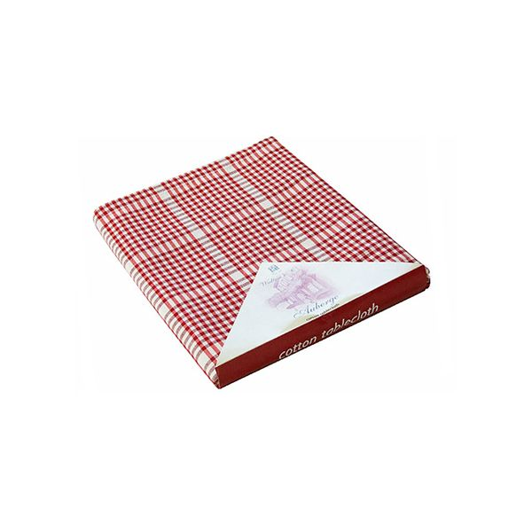 Walton & Co Auberge Gingham Tablecloth 130 x 180cm Red
