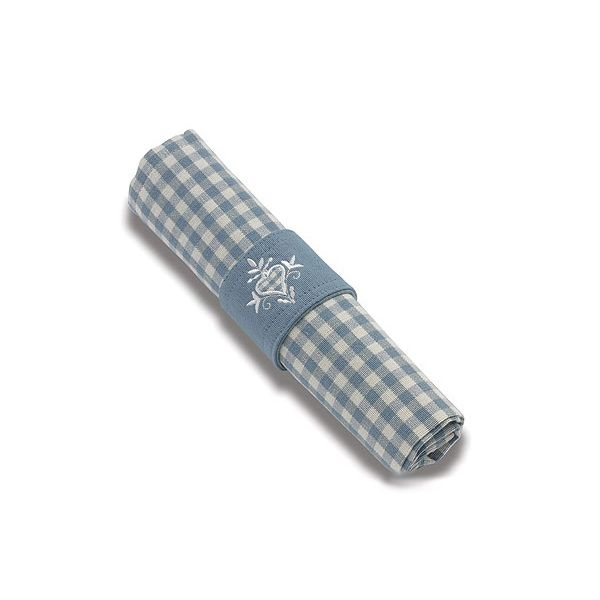 Walton & Co Auberge Gingham Napkins (Set Of 4) Wedgwood Blue