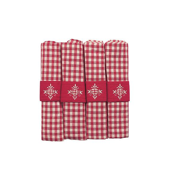 Walton & Co Auberge Gingham Napkins (Set Of 4) Red