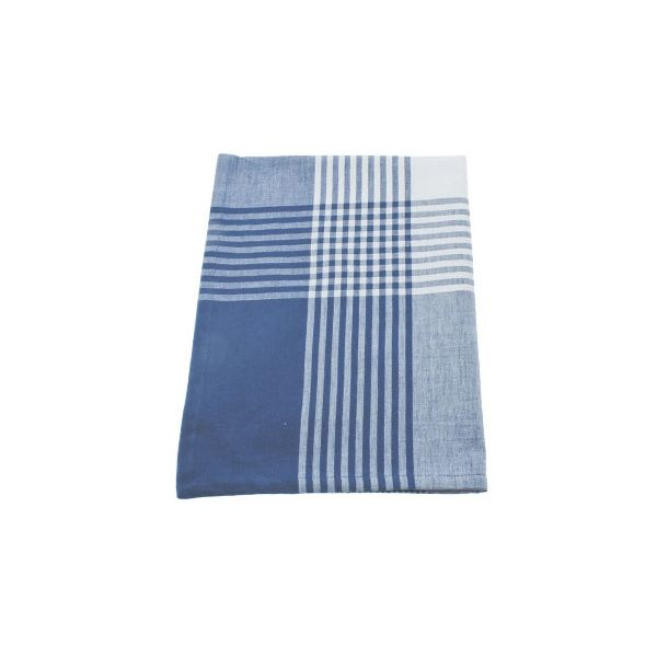 Walton & Co Auberge Gingham Tea Towel Nordic Blue