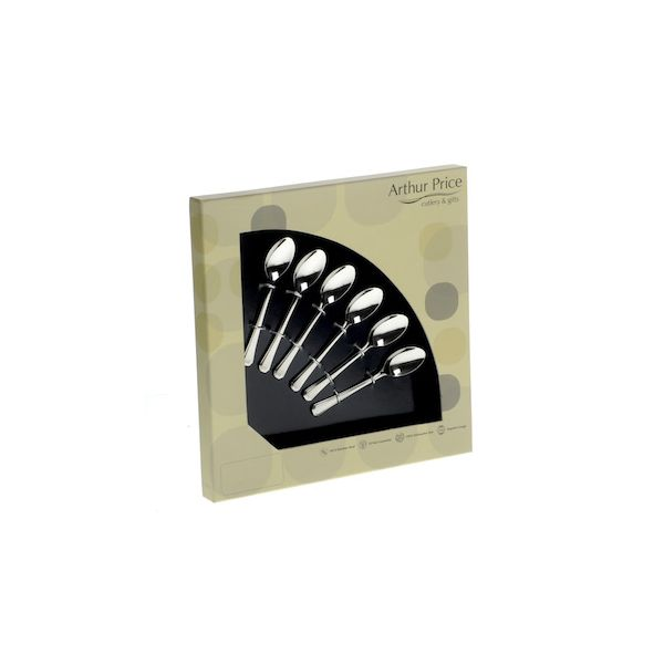 Arthur Price Classic Bead Set of 6 Coffee Spoons