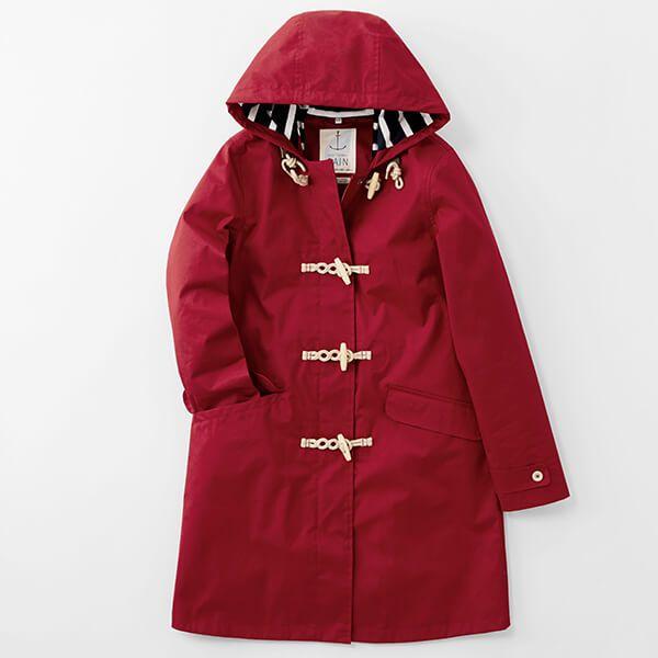 Seasalt Extra Long Seafolly Jacket Redcurrent