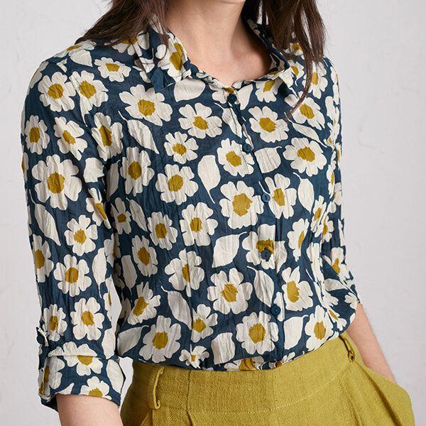 Seasalt Larissa Shirt Swatch Floral Light Squid