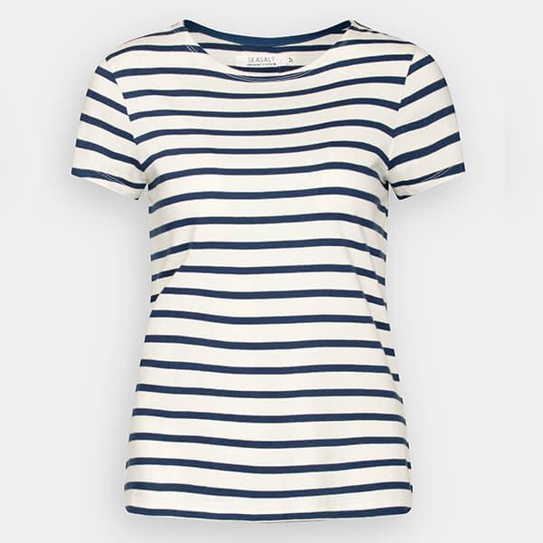 1b01910c Seasalt Sailor T-Shirt Breton Ecru Night | Harts of Stur