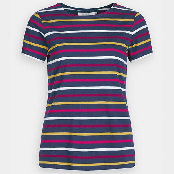 Seasalt Sailor T-Shirt Quad Breton Freesia Dune