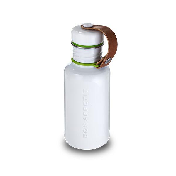 Black + Blum Box Appetit Water Bottle White
