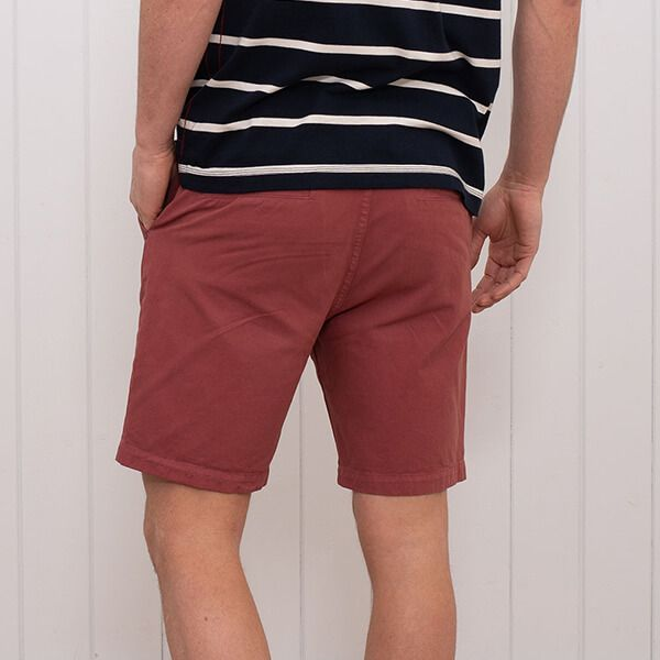 Brakeburn Chino Shorts Washed Red