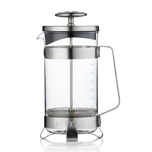 Barista & Co Beautifully Crafted Coffee Press Steel 8 Cup / 3 Mug