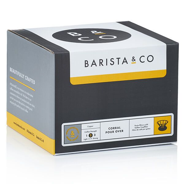Barista & Co Beautifully Crafted Corral Pour Over Coffee Maker Black