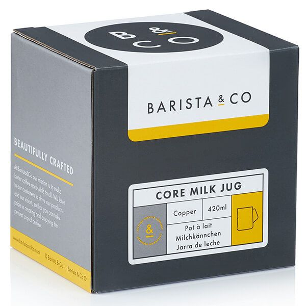 Barista & Co Beautifully Crafted Core Stainless Steel Milk Jug Copper 420ml