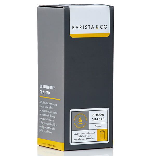 Barista & Co Beautifully Crafted Core Cocoa Shaker Steel
