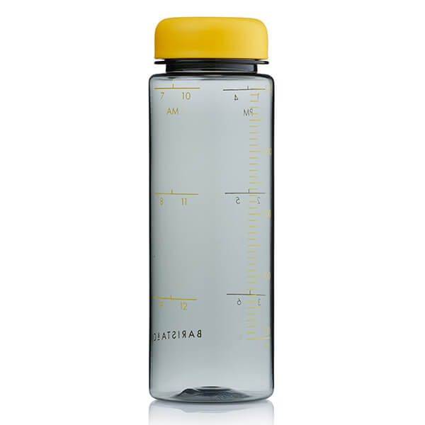 Barista & Co Made Simple Timer Measure Water Bottle Yellow