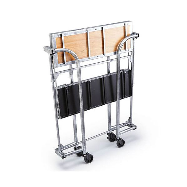 BarCraft Folding Bar Cart Acacia