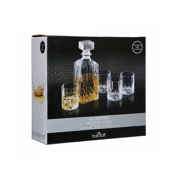 BarCraft Decanter and Tumbler Set 5 Piece Set