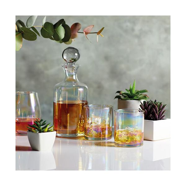 BarCraft Lustre Glass Decanter Set