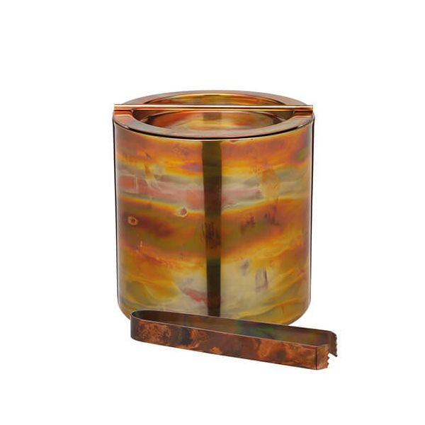 BarCraft Swirling Copper Finish Ice Bucket