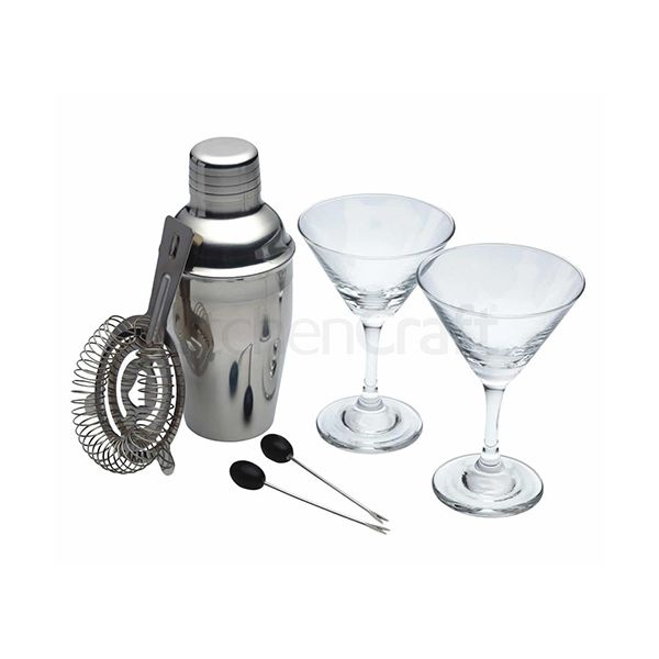 BarCraft Luxe Lounge 6 Piece Min Martini Cocktail Set