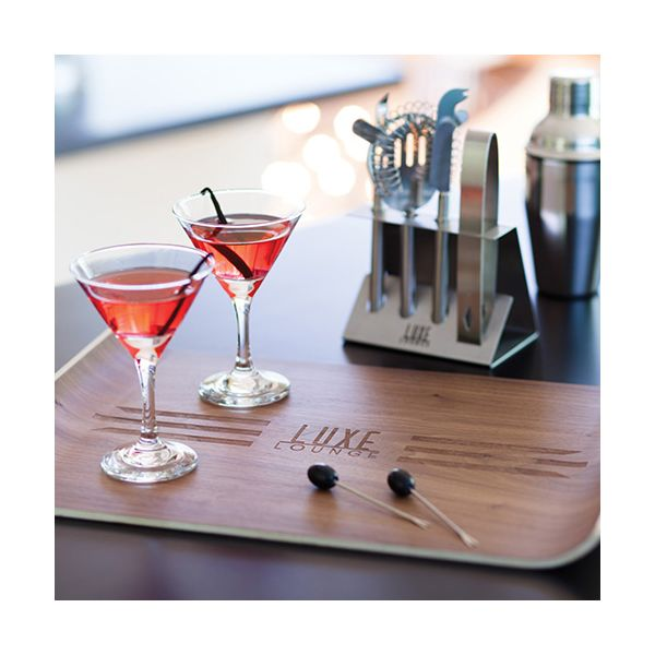 BarCraft Five Piece Stainless Steel Cocktail Tool Set