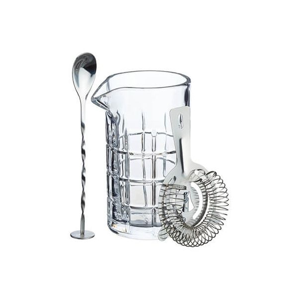 BarCraft Mixing Glass And Strainer Set