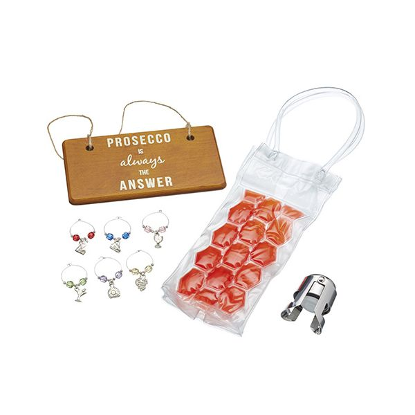 BarCraft Nine Piece Prosecco Gift Set