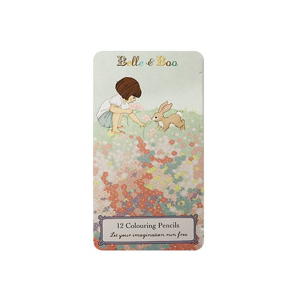 Belle & Boo Pencil Tin With 12 Pencils