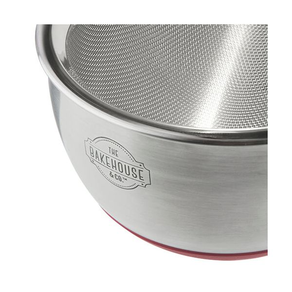 Bakehouse & Co Stainless Steel Mixing Bowl & Sieve Set