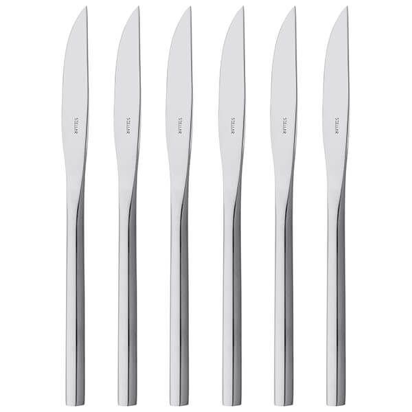 Stellar Rochester Polished Set Of 6 Steak Knives Gift Box