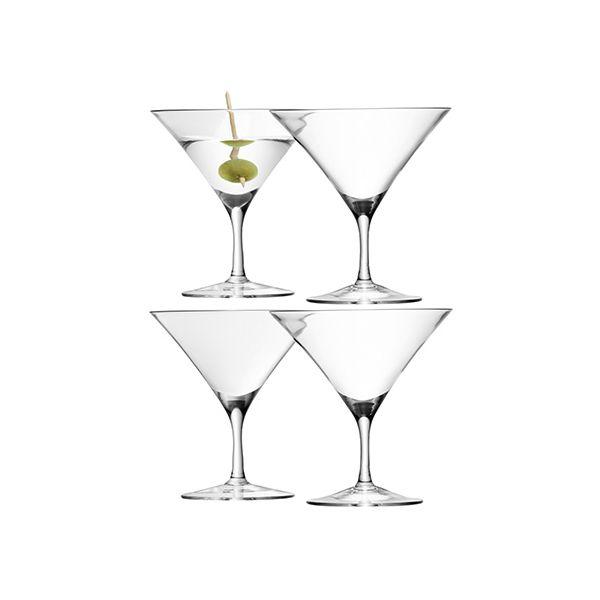 LSA Bar Martini Glass Set Of Four