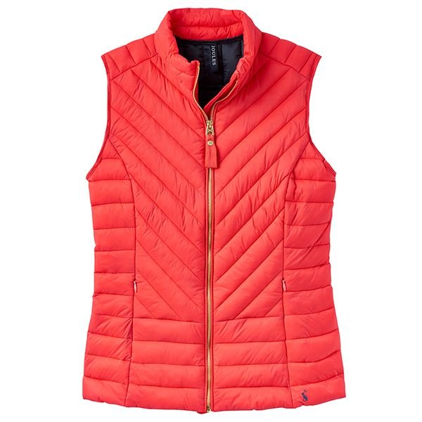 Joules Brindley Quilted Gilet Redcurrant