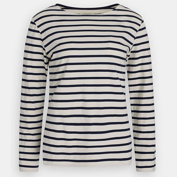 Seasalt Sailor Shirt Breton Ecru Midnight