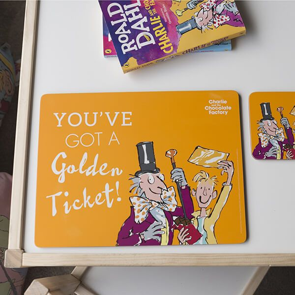 Roald Dahl Charlie And The Chocolate Factory Single Placemat