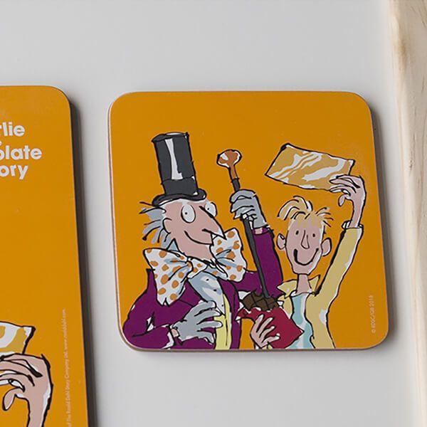 Roald Dahl Charlie And The Chocolate Factory Single Coaster