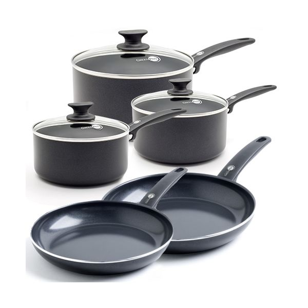 c34376339d8c GreenPan Cambridge Ceramic Non-Stick 5 Piece Cookware Set CC000588 ...