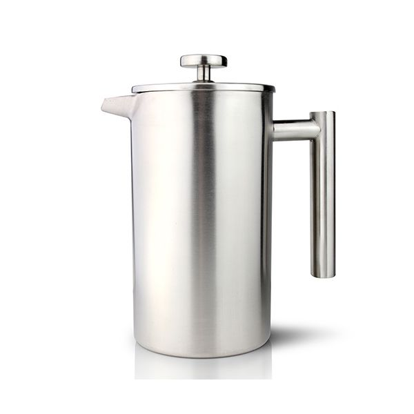 Grunwerg Double-wall Satin Straight Sided Cafetiere 8 Cup