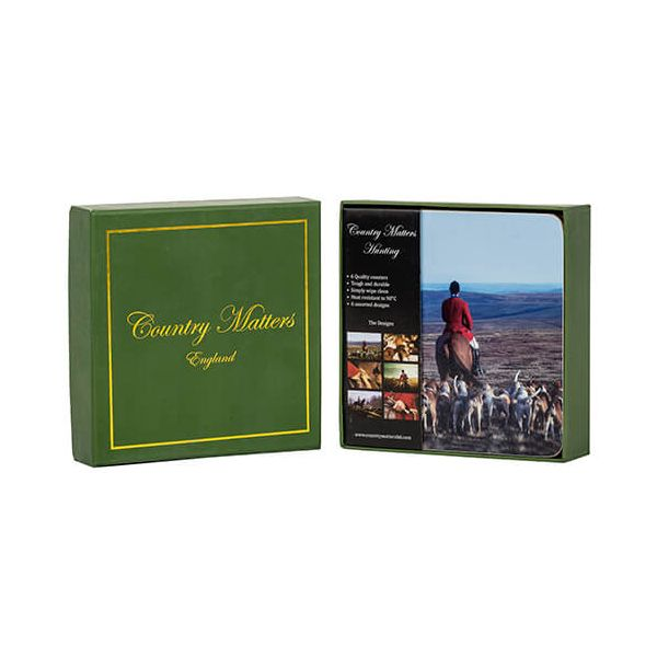 Country Matters Hunting Coasters Set Of 6