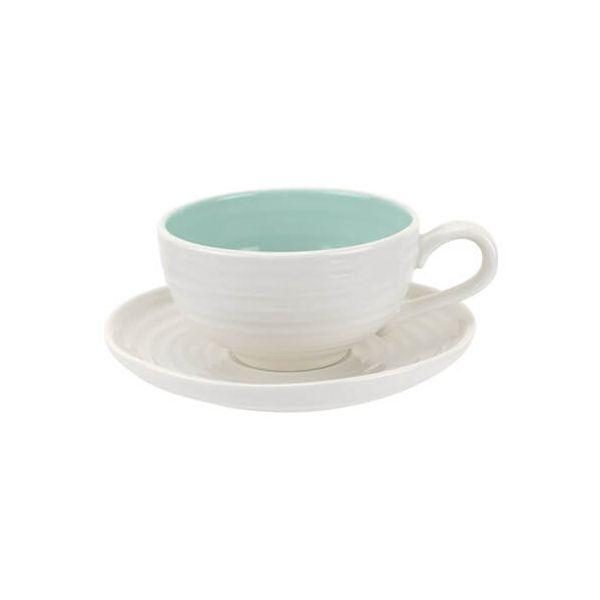 Sophie Conran Colour Pop Tea Cup & Saucer Celadon