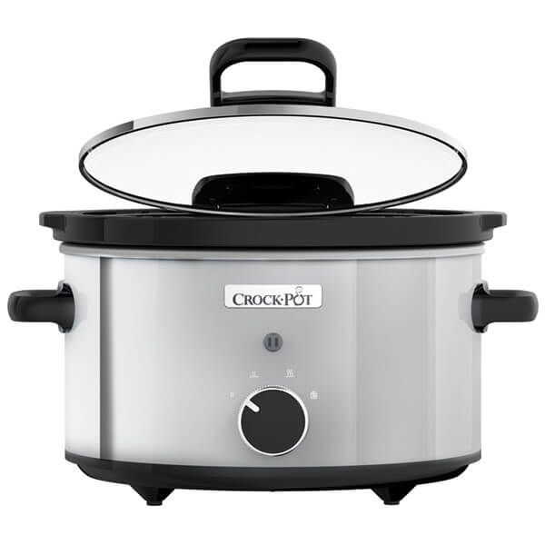Crock Pot 3.5L Stainless Steel Slow Cooker With Hinge Lid