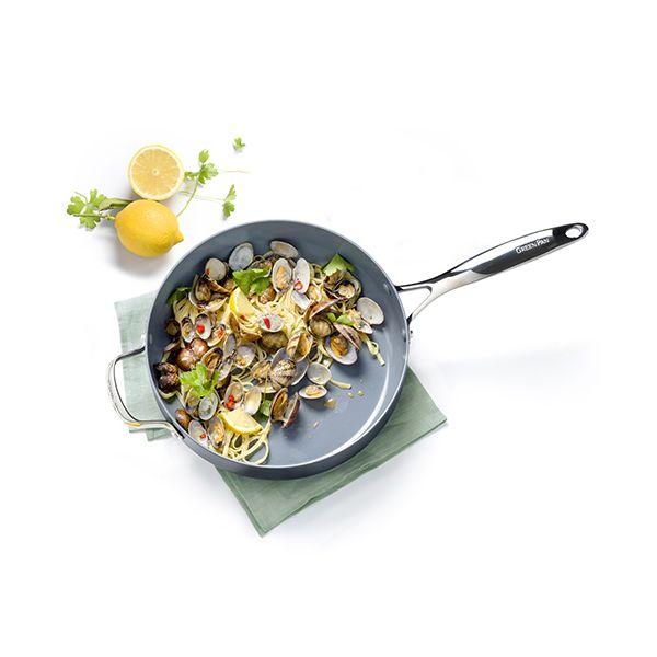 GreenPan Venice Pro Hard Anodised Ceramic Non-Stick 28cm Saute Pan