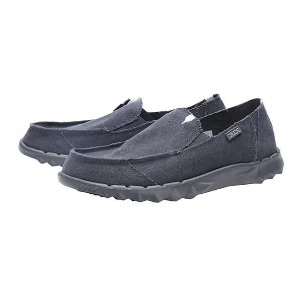 Dude Shoes Farty Night Blue Roughtcut Canvas Size UK6 / EU40