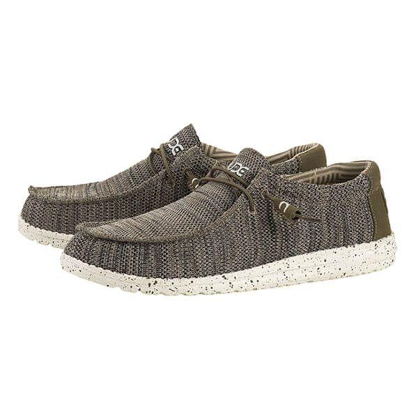 Dude Shoes Wally Sox Brown Textile Size UK14 / EU48