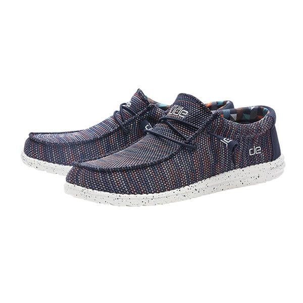 Dude Shoes Wally Sox Blue Orange Textile Size UK14 / EU48