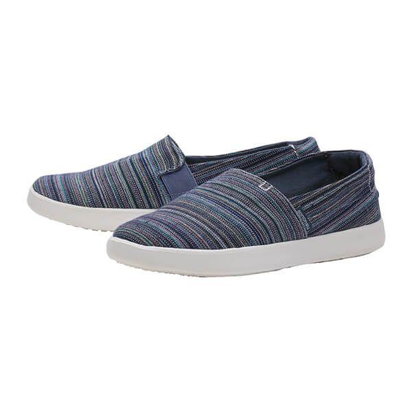 Dude Shoes Carly Ibiza Stripe Blue Textile