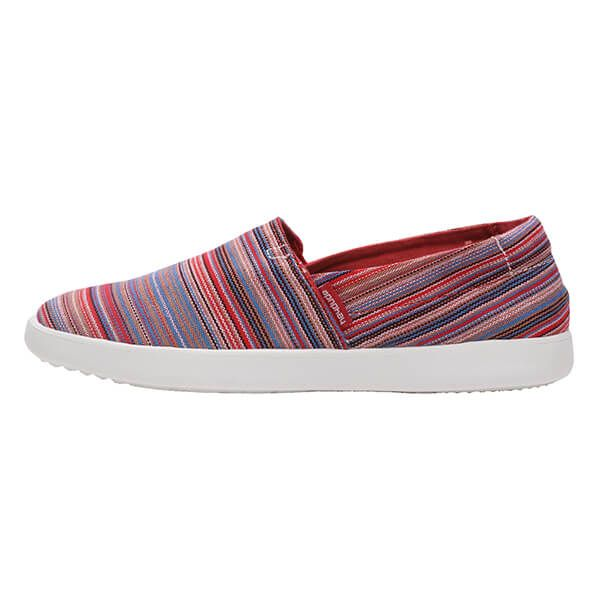 Dude Shoes Carly Ibiza Stripe Red Textile Size UK3 / EU36
